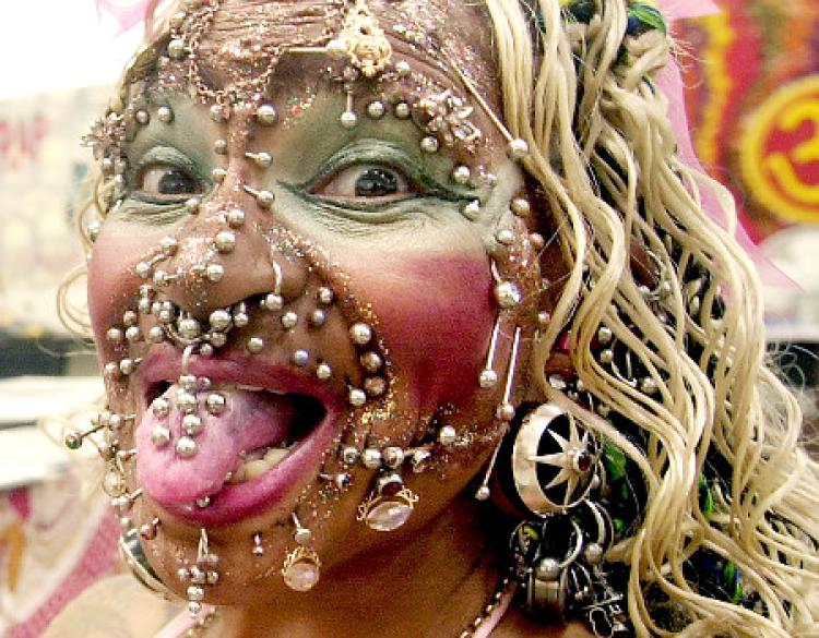 Meet the world's most pierced woman