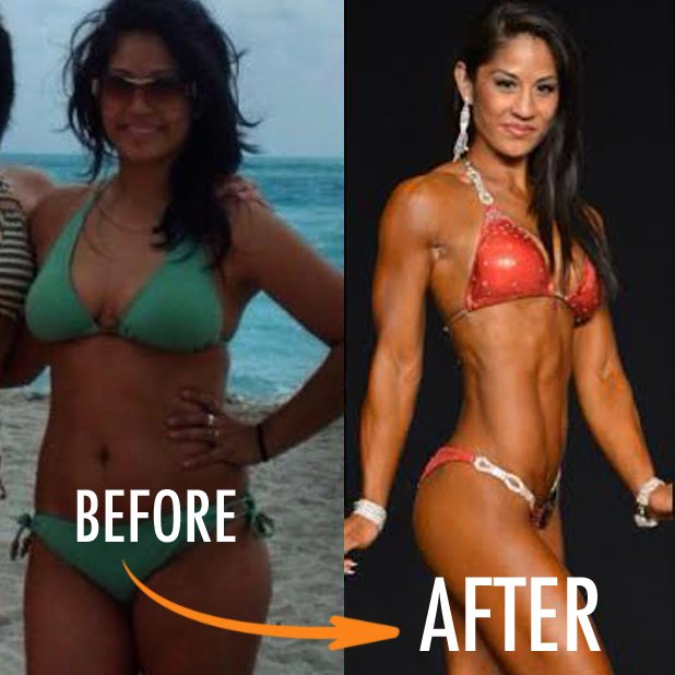 Before and after bodybuilders