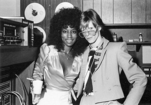 David Bowie and Slash's mother Ola Hudson.