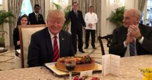 Happy Birthday | Donald Trump | Celebrates 72nd Birthday | Big Cake | Singapore