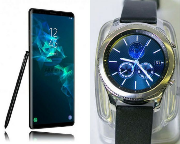 Upcoming Samsung To Launch Galaxy Note 9 Together With Gear S4
