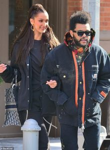Bella Hadid, and ,The Weeknd, Spotted Together, During, NYC's, Romantic Outing, in Matching, Winter Gear