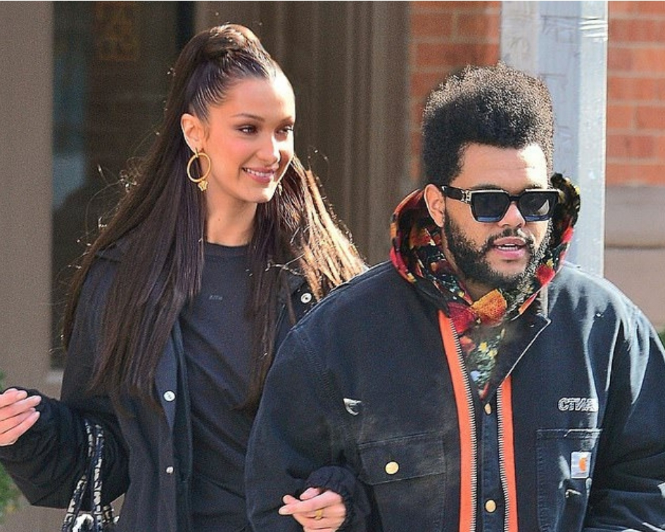 967f925a8d8f Bella Hadid and The Weeknd put on loved up displays while out in NYC