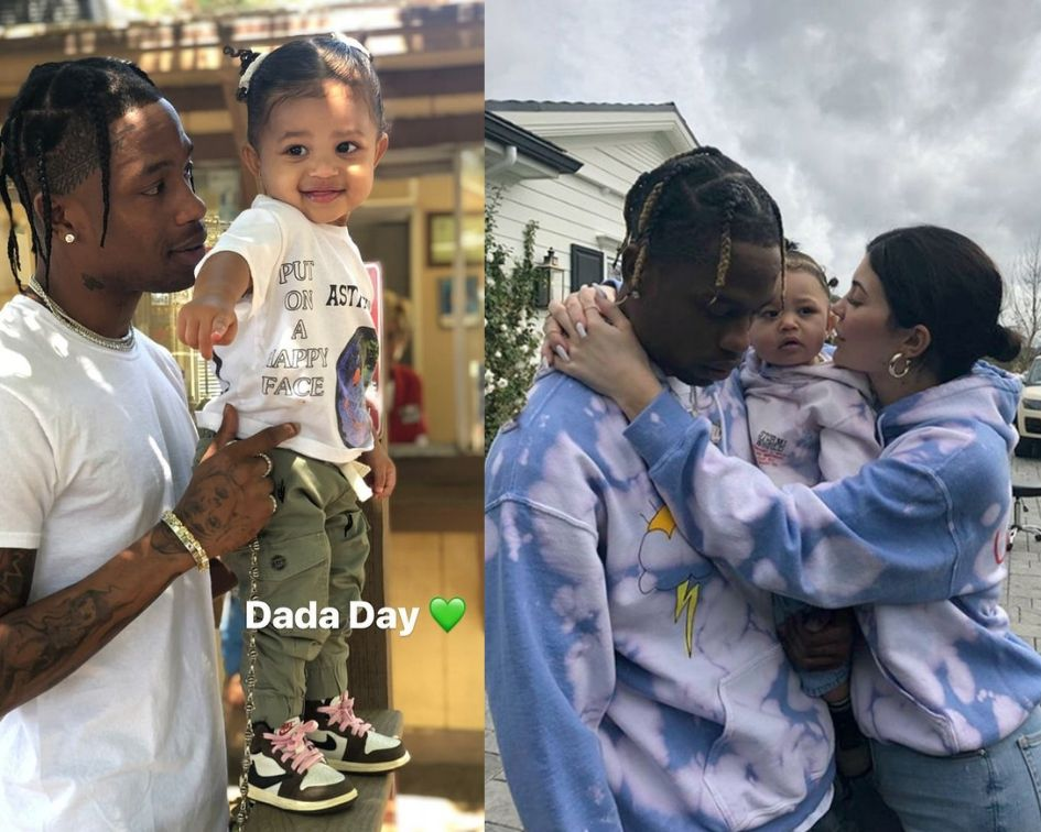 cb7407a8793c Kylie Jenner and Travis Scott Celebrate Father's Day with Daughter ...