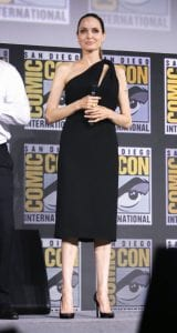 angelina-jolie-stuns-in-black-dress-surprise-appearance-at-comic-con-for-marvels-the-eternals2019