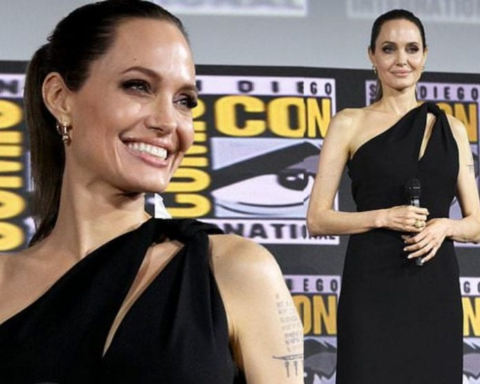 angelina-jolie-stuns-in-black-dress-surprise-appearance-at-comic-con-2019-for-marvels-the-eternals