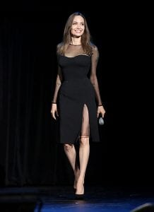 Angelina-jolie-stuns-in-black-dress-promotes-Maleficent-mistress-of-evil