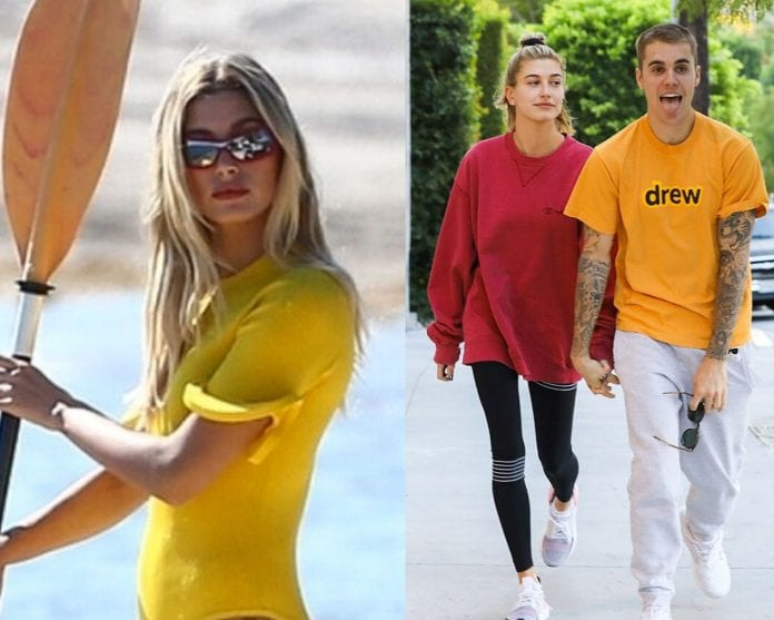 Hailey Bieber looks like a pinup in black bikin after giving husband Justin a $90K necklace