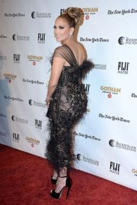 J.Lo-in-Feathered-Black-Dress-at-Gotham-Awards-2019