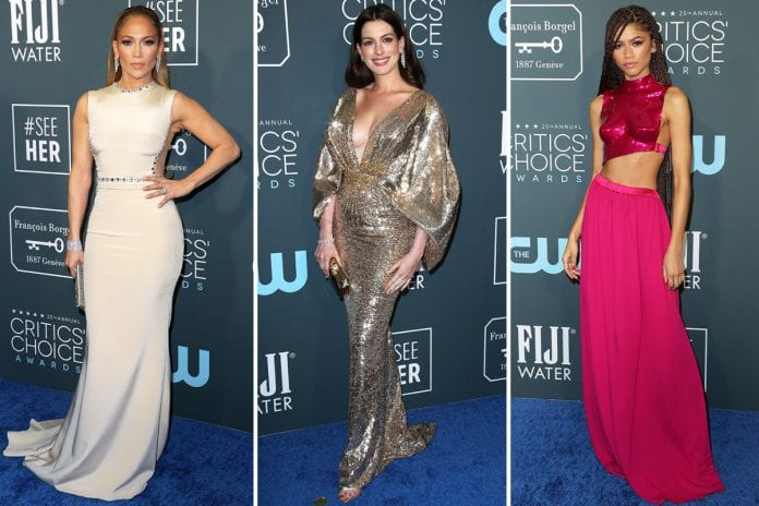 The-best-looks-from-the 2020 Critics' Choice Awards-red-carpet